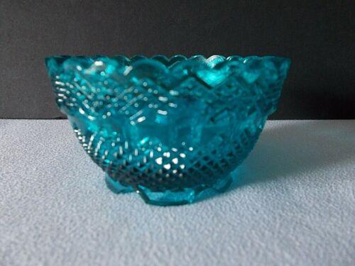 Fenton Blue 2 piece fairy lamp BOTTOM ONLY~~ 2 in h x 3 across