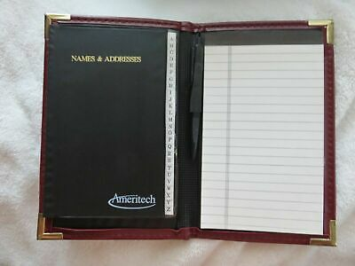 2-businesspersonal Portfolio With Names Addresses Notepads 5.75x 9 Brown