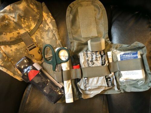 Improved IFAK Pouch Combat Trauma Kit Sealed Supplies FIRST AID - Quick Clot