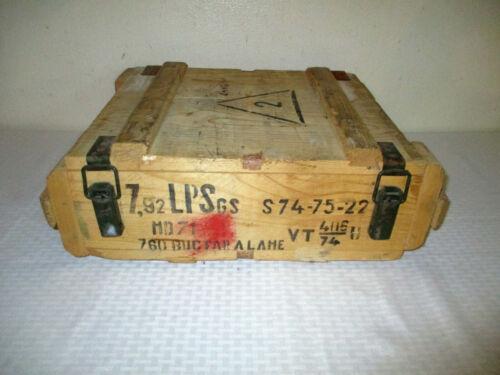 1974 Romanian 7.92mm (8mm Mauser) Wooden Ammunition Crate