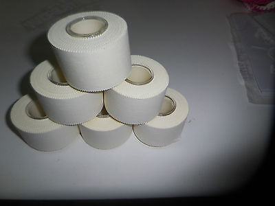 6 Stück Sporttape  3,8cm  x 10 m ( Mehr oder weniger möglich ) Farbe Weiß