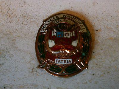 Police Badge, Policia  National Peru, Abzeichen Polizei - ORIGINAL !!!
