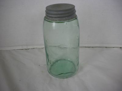 Vintage Mason's Quart Blown Glass Jar Patent Nov 30th 1858 Bubbles in Glass