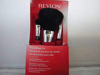 Revlon Travel Brush Kit 15912 Face Powder, Eye Shadow Lip/Concealer Brush Case
