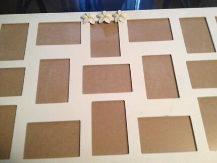 White Photo Frame ( holds 21 pictures) Revesby Bankstown Area Preview
