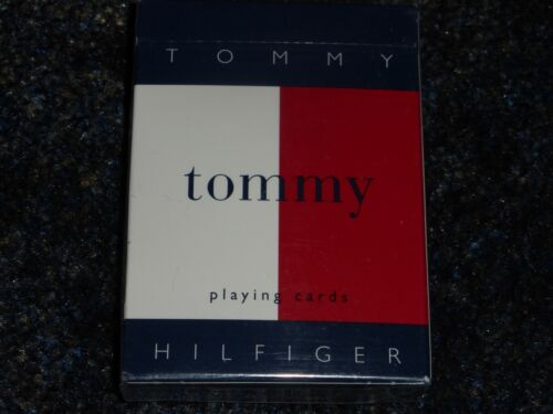 Tommy Hilfiger Big Flag Logo Playing Cards Deck Vintage 90s Very Rare New Sealed