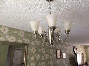 5 light silver chandelier/pendant light