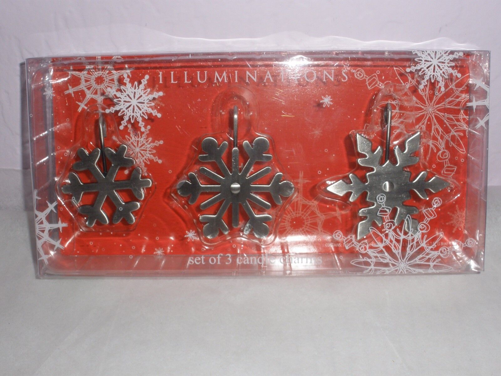 Illuminations Snowflake Candle Jar Charms Accessories Metal