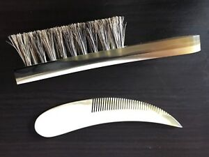 A manly man beard brush and comb kit