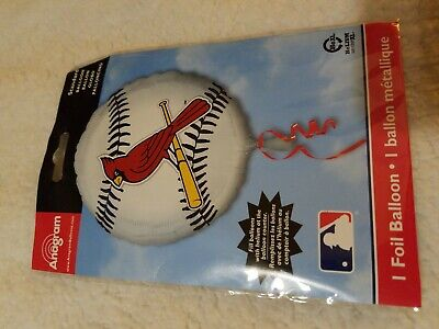 """17"""" MLB ST. LOUIS CARDINALS BASEBALL TEAM FOIL MYLAR BALLOON NEW IN PACKAGE"""