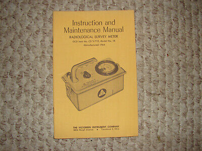 Victoreen Cdv715 Model 1b Radiation Detector Manuals
