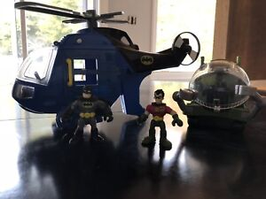 Fisher Price Imaginext Batman and Robin helicopter set