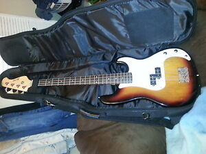 Bass Guitar with Case and Tuners