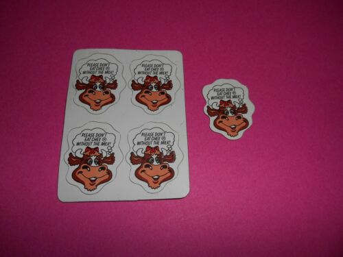 VINTAGE CHEX CEREAL COW MAGNETS-SET OF 5