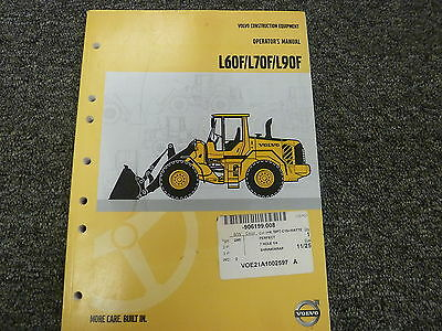 Volvo Models L60f L70f L90f Wheel Loader Owner Operator Maintenance Manual Book