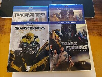 Transformers: Dark of the Moon + Last Knight (Blu-ray/DVD/Digital) New Free S/H