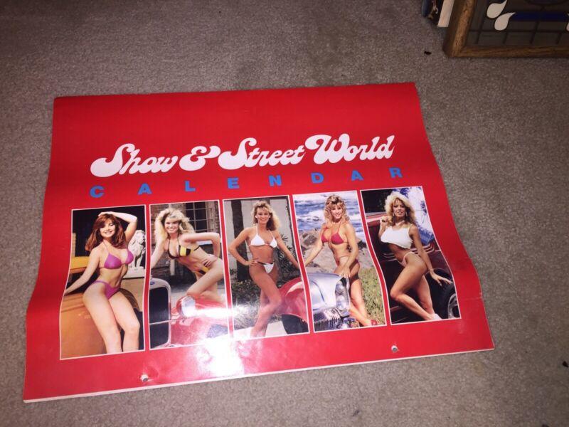 Rare Show & Street World Hot Rods & Girls Calendar 1987 ZZ Top Eliminator Vette