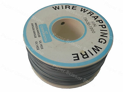 Gray Grey 1000ft 30awg Wrapping Wire Cable Roll