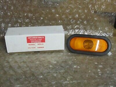 North American Signal Hpo-a Oval Strobe Head Amber Sealed 12 Volt