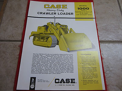 Case Model 1000 Heavy Duty Crawler Loader Tractor Sales Brochure