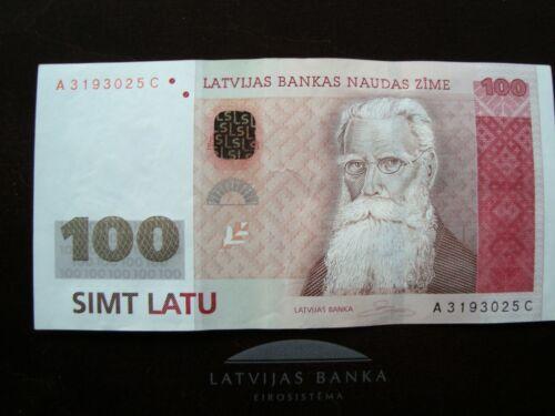 Latvia Lettland 100 latu 2007 banknote A 3193025 C