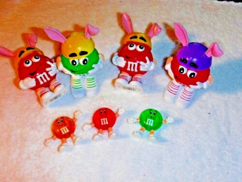 4 Large M&M figurine, 3 small ones, in mint condition, cute & lovely to have