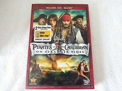Pirates of the Caribbean:On Stranger Tides-Blu-ray/DVD New w/Cardboard slipcover