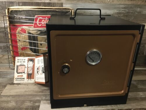 Vintage Coleman Model 5010A700 Camp Oven With Original Box and manual !