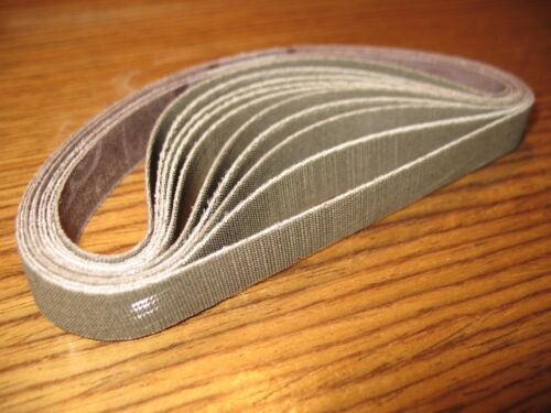 """10pc 1/2 x 12"""" 3M Trizact 180 grit sanding belts for Worksharp knife sharpener"""
