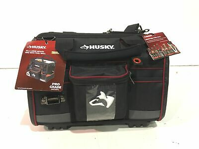 Husky 16 in. Large Mouth Tool Bag with Tool Wall New