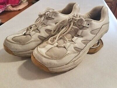 Z Coil Freedom Walking Pain Relief White Leather Sneakers Shoes Men's US 10