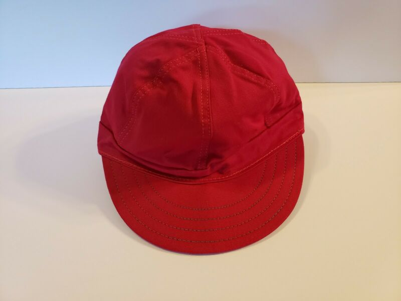 Vintage Red Kromer Hat Cap Welder Railroad Size 6 7/8-55 Union Made USA