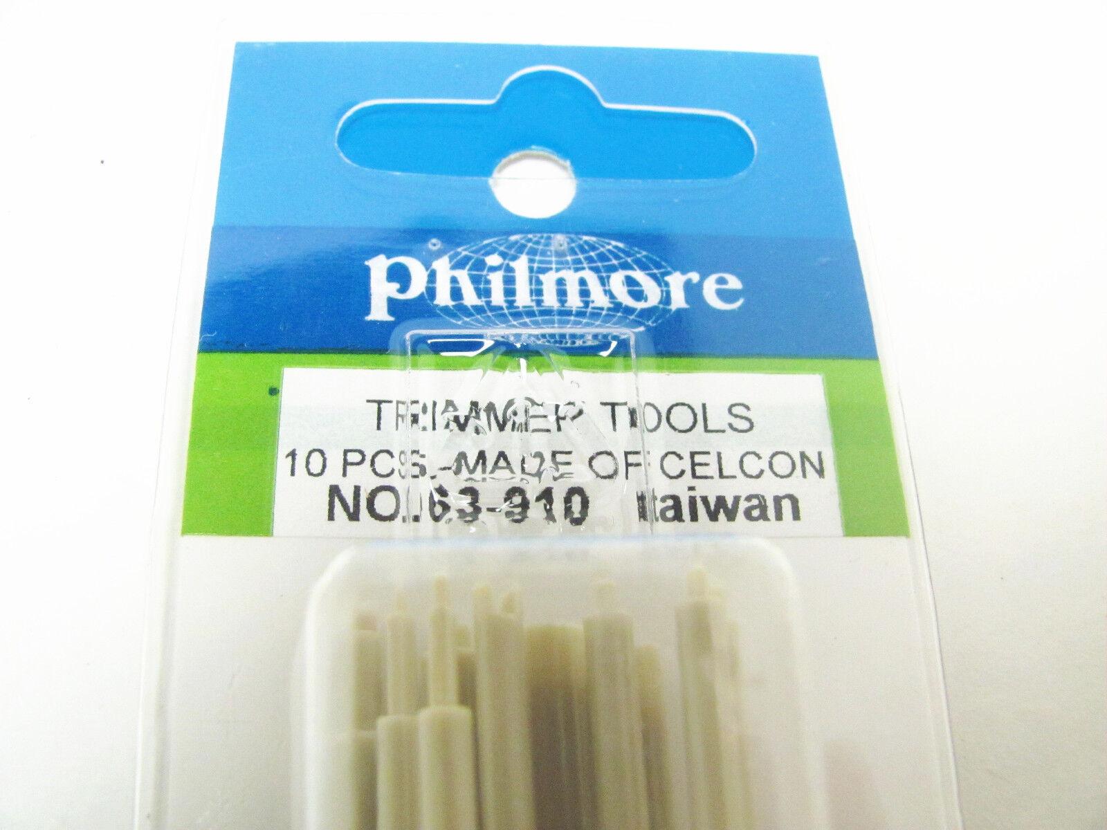 10 Piece Radio & TV Anti-Static Trimmer Alignment Tool Set - Philmore 63-910