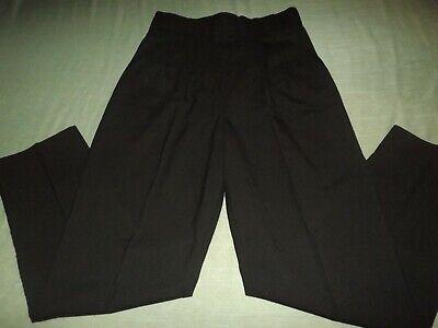 LADIES HALANDY BLACK PLEATED CUMBERBUND WAIST DRESS PANTS sz 13/14 check msmts - Ladies Pleated Dress Pants