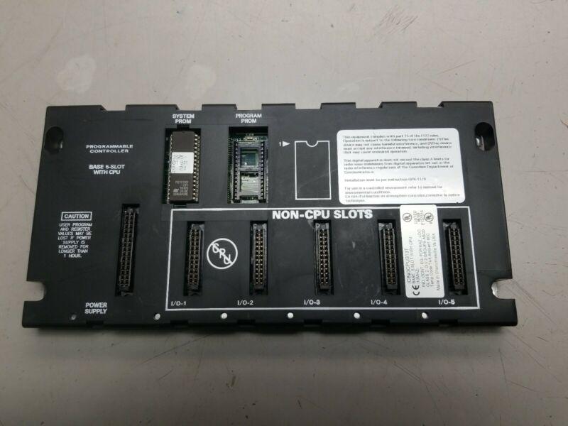 GE Fanuc 5 Slot PLC Base  IC693CPU313T