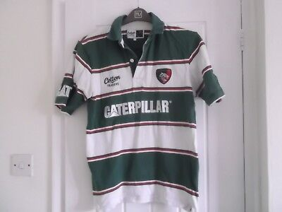 0d13d65a6f8 LEICESTER TIGERS RUGBY UNION SHIRT SMALL SIZE 40 INS COTTON TRADERS MAKE