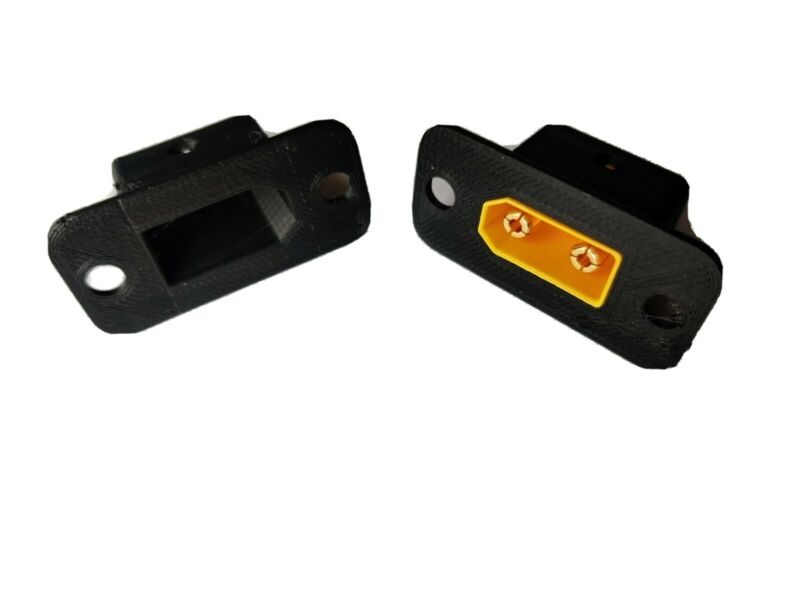 XT90 Connector panel flush mount adapter 3d printed pla plastic (set of 4)