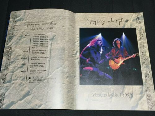 """""""Jimmy Page & Robert Plant"""" Tourbook World Tour 1995/96 in Japan Led Zeppelin"""