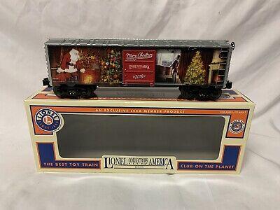 ✅LIONEL LCCA 2018 CHRISTMAS BOX CAR 6-58065! FOR O GAUGE TRAIN SET SANTA CLAUSE