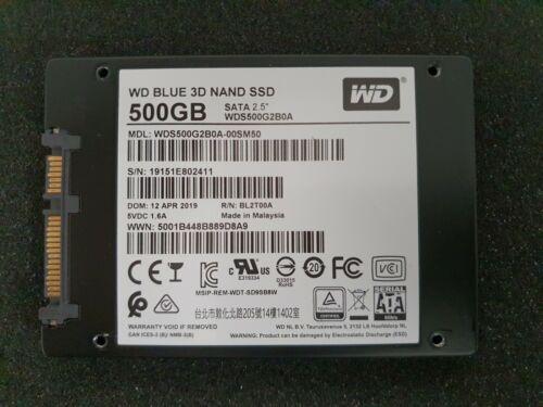 Western Digital Blue 3D 500GB Nand Sata SSD Festplatte (WDS500G2B0A) !