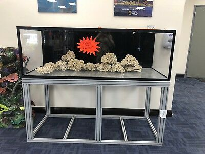 "225 Gal 1"" Acrylic Fish Tank Aquarium 72""x30""x24"" with 35"" Alum. Stand & Rock"