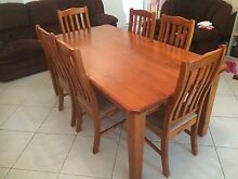 7 piece solid timber dining set Coconut Grove Darwin City Preview