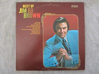 BEST OF JIM ED BROWN  VINYL RECORD LP (PROMO) / 1973 Country Nashville Sound