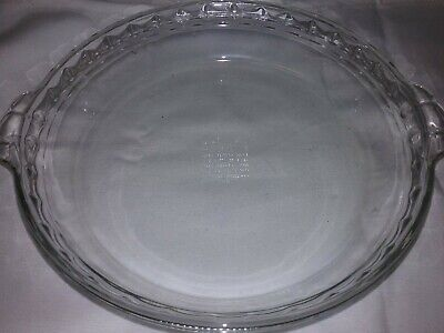 Vintage PYREX #229 Crimp Edge Clear Glass Pie Dish  10