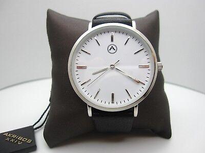 New W/ Tag Akribos XXIV Analog Dial Watch (A516) AK1033SS (Retail $85.00)