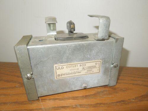 Ite Pb20p-3s Uld Outlet Box 20a 120v 2p 3w W/ Ground Pushmatic Breaker Disc Used
