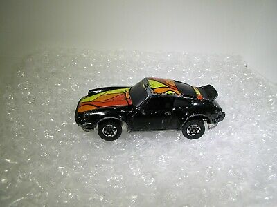 Vintage Hot Wheels Blackwall RARE Black Porsche P-911 From TURBO BLAST 600 SET