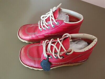Red Genuine Authentic Vintage Kickers (Boots) Size 6 *BARGAIN*