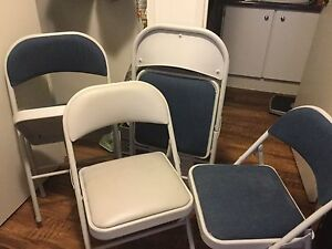 4 Padded Folding Chairs!