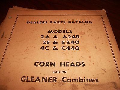 Allis Chalmers Gleaner 2a A240 2e E240 4c C440 Corn Head Parts Catalog Combine